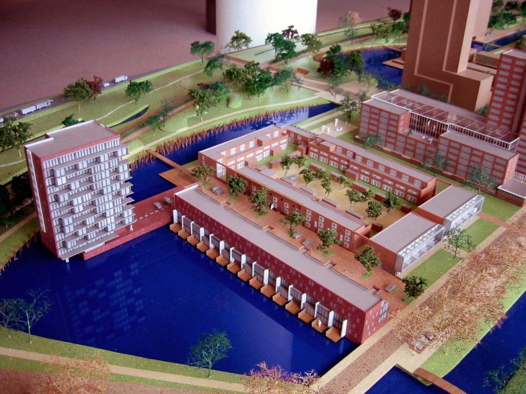 ' Over het water' Schiedam. schaal 1:200